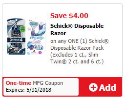 Schick Disposable J4U
