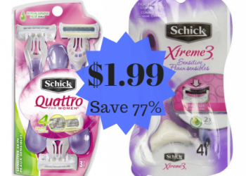 Schick Disposable Razors Just $1.99 at Safeway – Save 77%