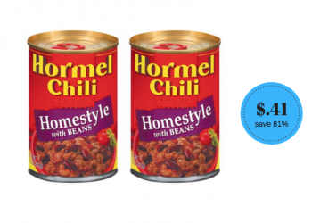 Hormel Chili Coupon, Only $.41 a Can After Coupon & Sale
