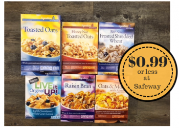 Signature Kitchens Cereals $0.99 Each or Less With Digital Coupon