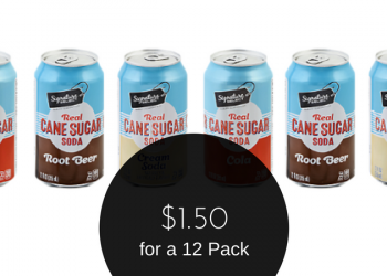 Signature SELECT Soda Coupon, Only $1.50 for a 12 Pack