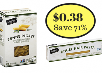 Signature SELECT Pasta Only $0.38 at Safeway – Save 71%