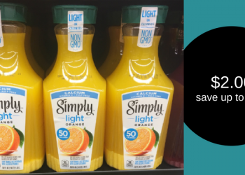 Simply Light Coupon – Pay as Low as $2.00 for Orange Juice