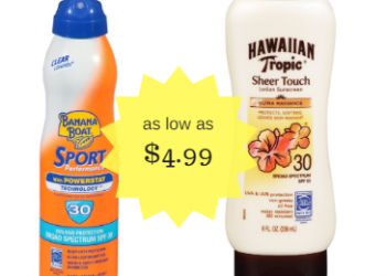 Sun Care Sale and New Coupons – Hawaiian Tropic & Banana Boat as Low as $4.99