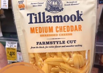 Tillamook Farmstyle Cut Shredded Cheese Only $1.99 – Save 50%