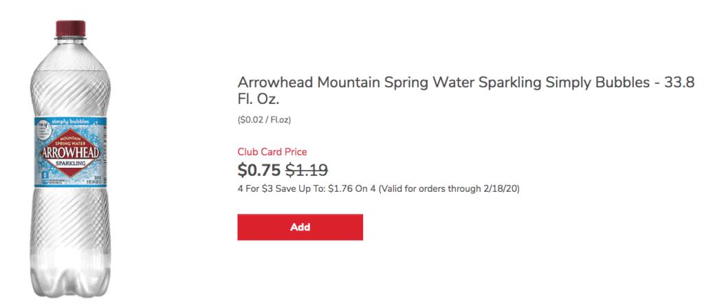 arrowhead-sparkling_water_Sale