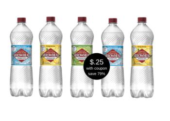 HOT! Arrowhead Sparkling Water 1 Liter Bottles Just $.25 Each at Safeway