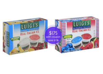 Luigi's Italian Ice Only $1.75 at Safeway ($.29 Per Cup)