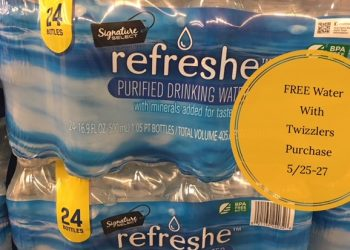 Refreshe Water 24-pack Just $0.99 (3-Day Sale) = FREE Water with Twizzlers Purchase