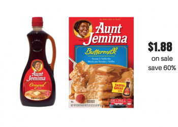 Aunt Jemima Pancake Mix and Syrup Just $1.88 at Safeway (Reg. $4.69)