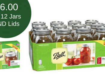 Kerr & Ball Canning Sale – as Low as $0.50 for Lids & $5.49 for 12 Jars