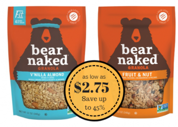 Bear Naked Granola as Low as $2.75 – Save up to 45%