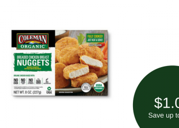 Coleman Organic Breaded Chicken for as Low as $1.00 (Save 80%)