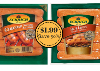 Eckrich Dinner Sausage Only $1.99 at Safeway (Save 50%)