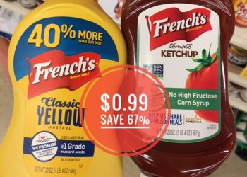 French's Ketchup & Mustard Only $0.99 Each at Safeway (Save 67%)
