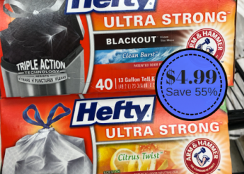 Hefty Trash Bags Only $4.99 (Save 55%) – Ends Today (6/12)