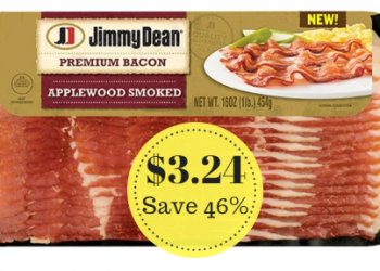 Jimmy Dean Bacon Just $3.24 at Safeway (Reg. $5.99)