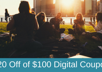 Weekend Just for U Digital Coupon – $20 Off a Purchase of $100