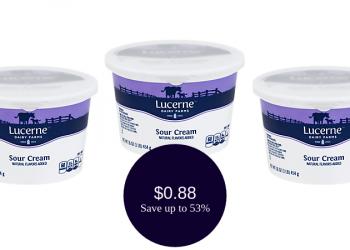 Lucerne Sour Cream for ONLY $0.88 (16 Ounces)
