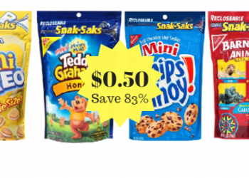 Nabisco Snak Saks Just $0.50 at Safeway (Save 83%)