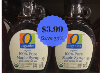 O Organics 100% Pure Maple Syrup Just $3.99 = Ends Today (6/12)
