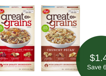 Post Great Grains Cereal – Pay as Low as $1.45 Each
