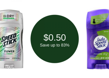 Speed Stick Coupon & Sale at Safeway, Only $0.50 for Deodorant