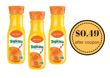 Tropicana Juice for $0.49 at Safeway After Deal