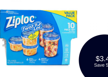 Ziploc Twist n Loc Storage Containers for $3.49 (10 Piece Set)