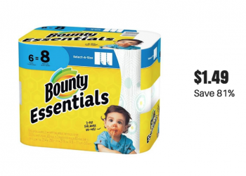New Bounty Essentials Paper Towels Coupons 6 Roll Pack Just $1.49