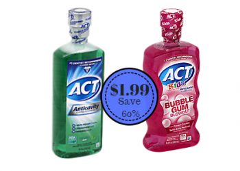 Act Mouth Rinse Only $1.99 at Safeway – Save 60%