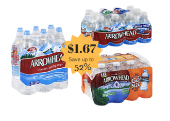 Arrowhead Mountain Spring Water Just $1.67 at Safeway