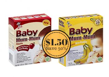 Baby Mum-Mum Baby Food Only $1.50 at Safeway (Save 50%)
