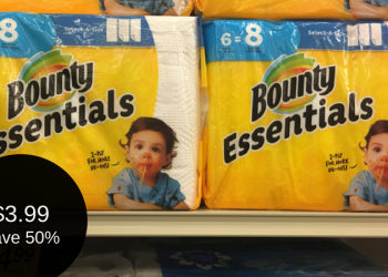 Bounty Essentials Paper Towels – 6 Packs for $3.99 (Save 50%)