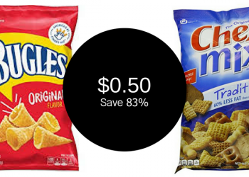 Chex Mix & Bugles for ONLY $0.50