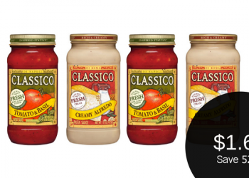Classico Coupon, Pay $1.69 for Alfredo or Pasta Sauce