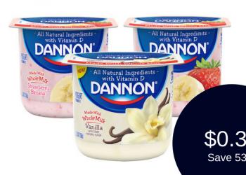 Dannon Whole Milk Yogurt for $0.33 (Grab and Go)
