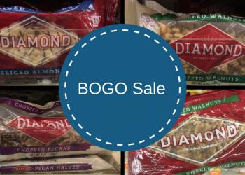 Diamond of California Nuts (Almonds, Pecans, & Walnuts) – Buy 1, Get 1 FREE