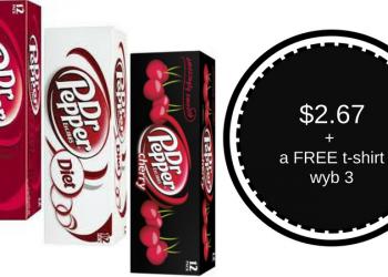 Dr. Pepper 12 Packs for $2.67 + FREE T-Shirt