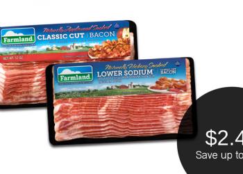 Farmland Bacon Coupon & Sale, Only $2.49