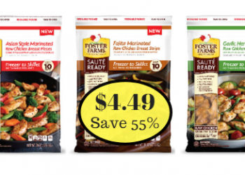 Foster Farms Saute Ready Chicken Entrees Only $4.49 (Save 55%)