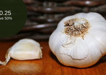 Garlic Bulb for as Low as $0.25 (Save 50%)