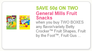 General Mills Fruit Snack coupon