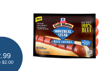 Grill Mates Coupon, Pay as Low as $2.99 for Beef Franks