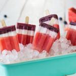 Homemade Red White & Blue Popsicles