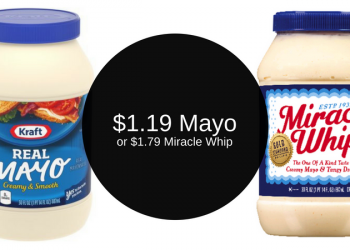 Kraft Mayo $1.19 & Miracle Whip $1.79 After Deals