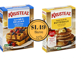 Krusteaz Pancake and Waffle Mix Only $1.49 at Safeway (Save 57%)