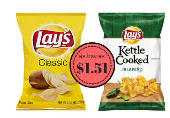Lay's Kettle & Potato Chips as Low as $1.51 (Save up to 57%)