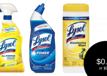 Lysol Coupons, Only $0.49 – $0.99 for Cleaners or Wipes