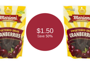 Mariani Cranberries for $1.50 – Save 50% (Grab and Go)